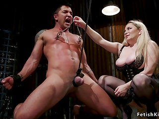 Huge knockers mistress sodomized torments male