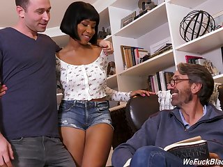 Jenna Foxx adores a missionary after amazing fingering in a threesome