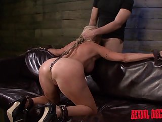 Slave gets her throat and cunt used by master