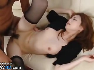 Japanese Wife In Stockings Copulated By Older Man