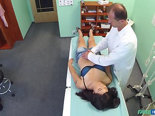 Fake hospital video fith natural tits Johanna Joobiez having sex
