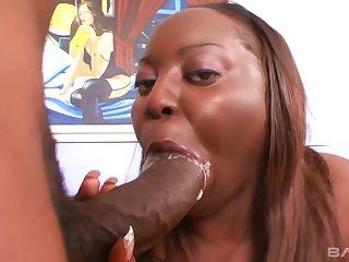 Sexy ebony BBW facesitting with her big ass